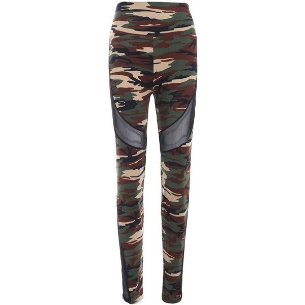 High Waist Camo Skinny Pants (€9,18) ❤ liked on Polyvore featuring pants, rosegal, camouflage trousers, camo trousers, camo print pants, high-waisted trousers and camoflauge pants
