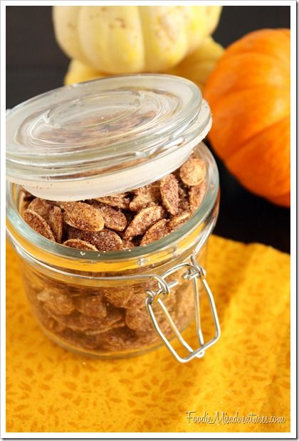 Cinnamon Sugar Pumpkin Seeds - Don't throw those seeds away after you've cleaned out your pumpkin!