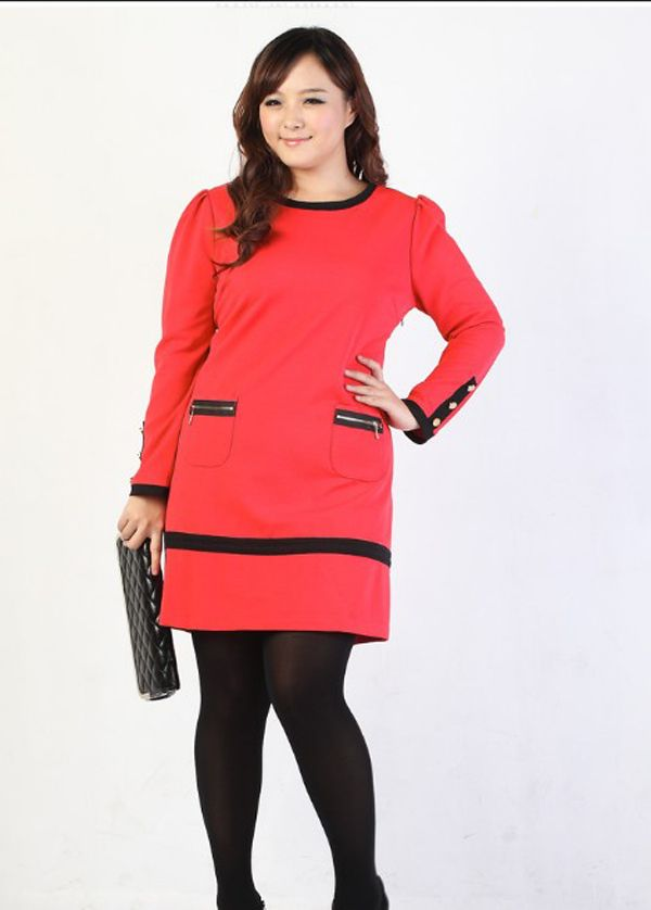 29fa0716f64 9. new year eve dress for curvy red