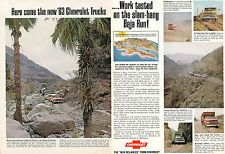 1962 ad for 1963 Chevy Chevrolet Work Truck 2 Page Ad Mexico Baja California
