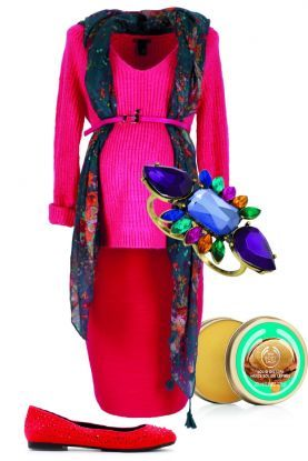 4 sposoby na różowy pulower – zestaw na spotkanie