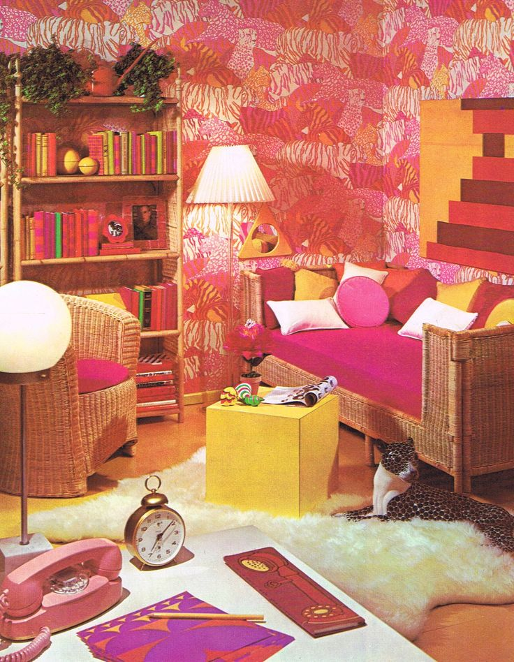 This site has some of the most amazing late 60, early 70 rooms. I remember this stuff, but it didn't seem as awful then. Of course I was 11 at the time. Most of the designers had to be high, or something!