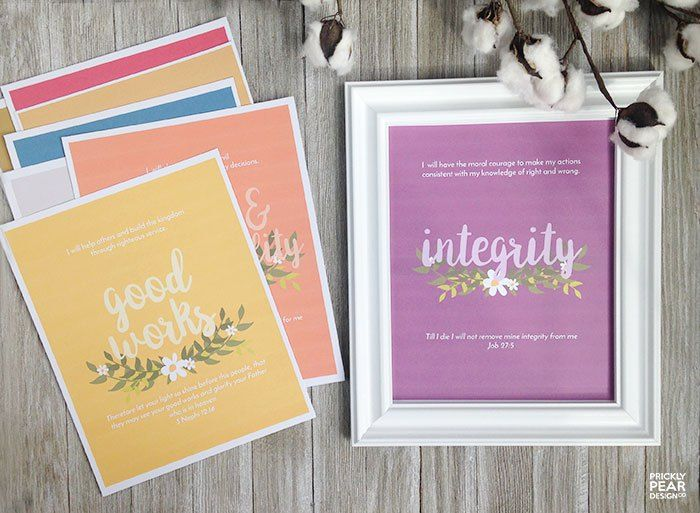 Young Women Value Posters - FREE 8x10 Printables Perfect for Evening in Excellence & New Beginnings!