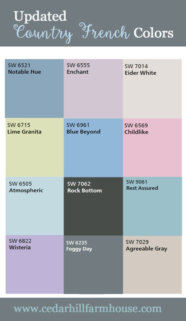 What are the NEW Country French Colors - Cedar Hill Farmhouse