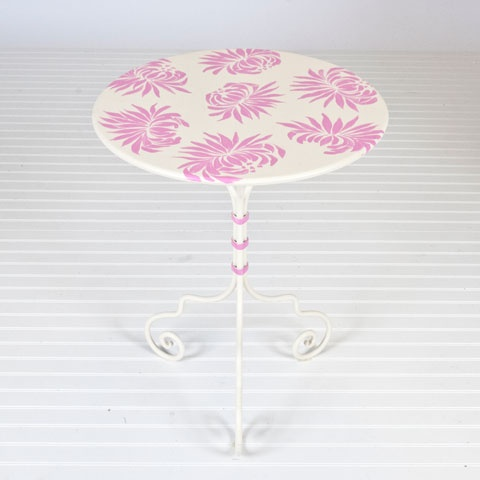 Dahlia Pink And Cream Bistro Table #WorldsAway