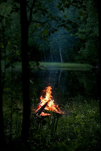 Midsummer bonfire by Pekka Vainio, via Flickr