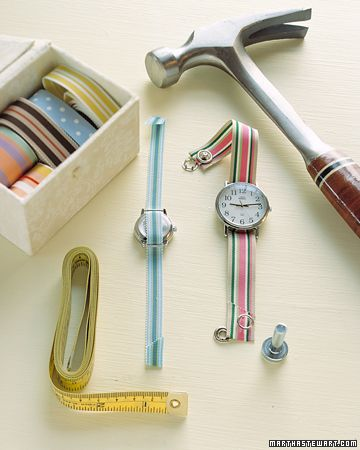 replace your watch band with a grosgrain ribbon tutorial
