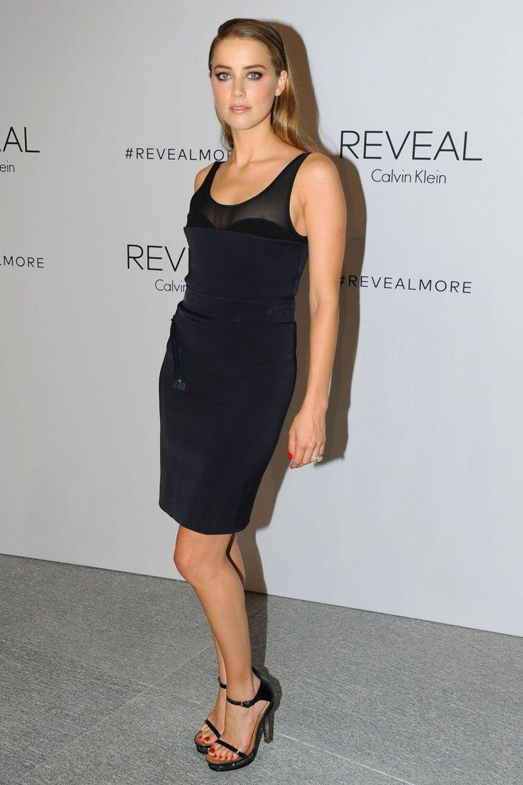 Amber Heard.. Calvin Klein Collection zip dress..