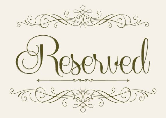 Wedding Seating Reserved Sign 5 X 7 Printable Diy
