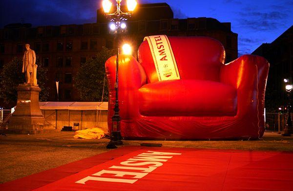 Amstel Beer - Giant Living Room on Behance