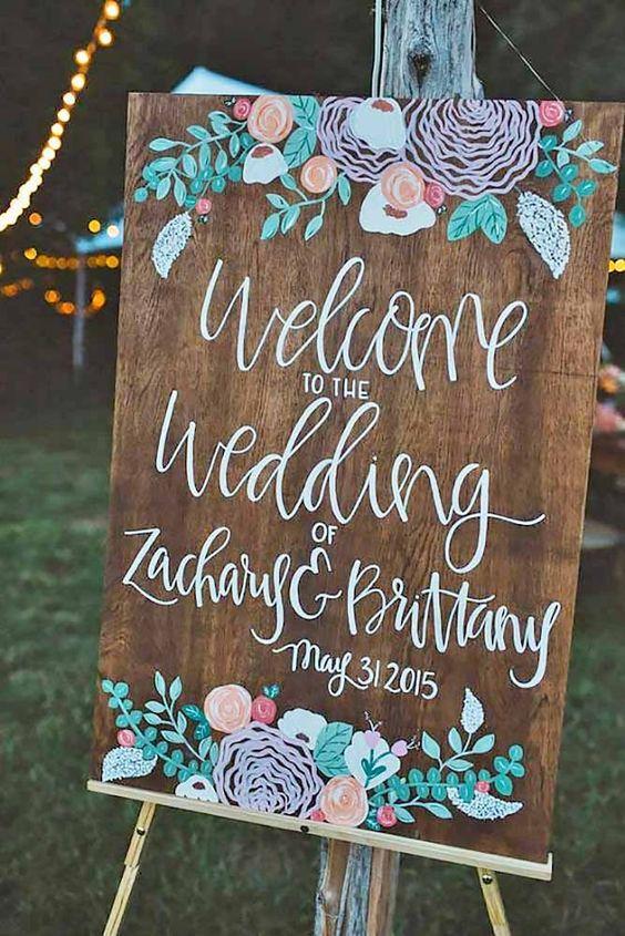 Popular Rustic Wedding Signs Ideas
