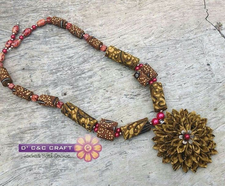 #batik necklace