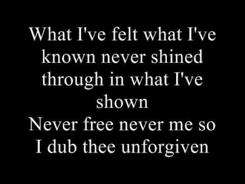 Metallica - The Unforgiven lyrics...* ~ Oooohhhh, I so identify with this song, and it's despairing lyrics ~ *