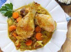 Colombo de poulet léger WW, recette d'un bon plat de poulet aux légumes complet et équilibré, très facile à faire et idéal pour un repas convivial et léger.