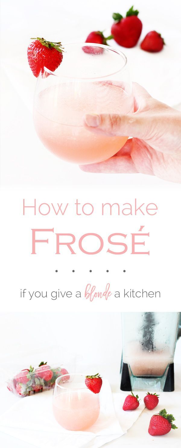 Frosé (aka frozen rosé) is no doubt the cocktail of summer and it is SO easy to make at home. | http://www.ifyougiveablondeakitchen.com