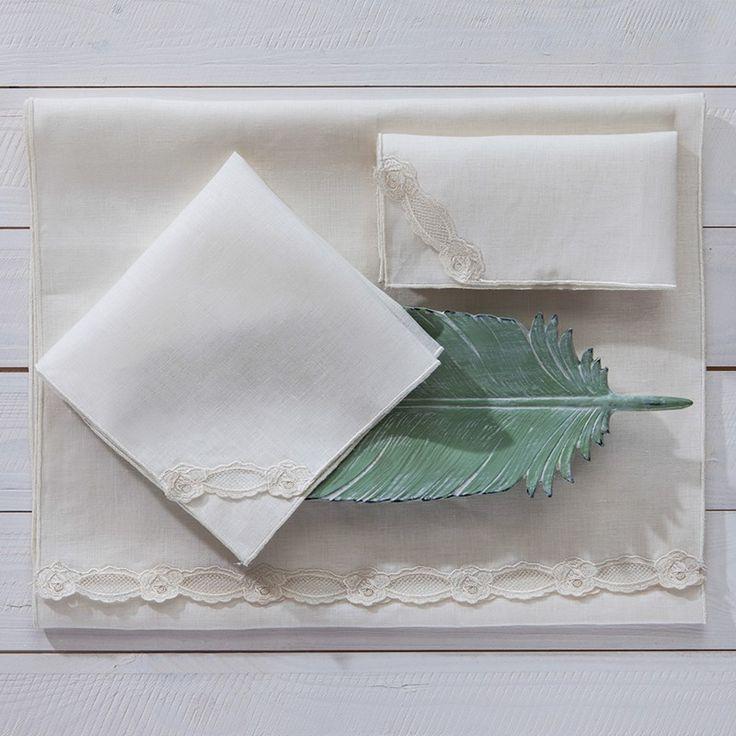 Flora Runner Ve 2 Adet Peçete Takımı #evdebir #ev #home #mutfak #kitchen #servis #runner #pecete #beyaz #napkin #service #white #LoveLetter