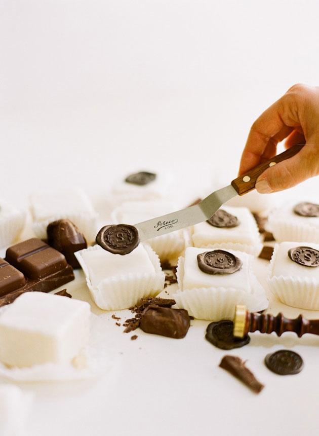 Un cachet en chocolat DIY