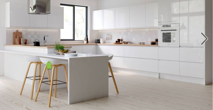 gloss white cupboards