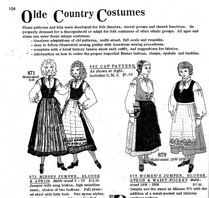 Old Country Costumes makes some of the only bunad-like patterns accessible to those who want to sew-their-own.  The patterns are challenging, however; I needed an experienced seamstress to help me do pleats and the lined vest. Available at http://www.nordicmaid.com/products.asp?cat=42 , among other sites.
