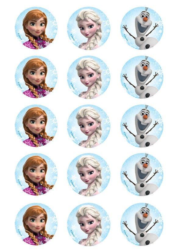 Frozen Cupcake » Cupcake Prints » Licensed » Pre-Designed Edible Cake Prints