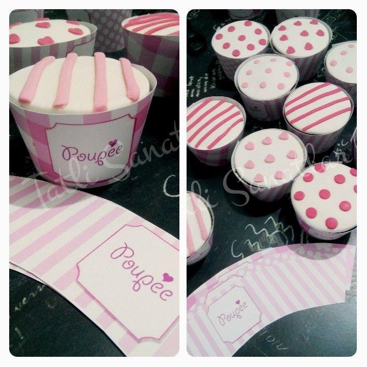 Poupe için özel hazırladığımız cupcake ve cupcake kılıfları