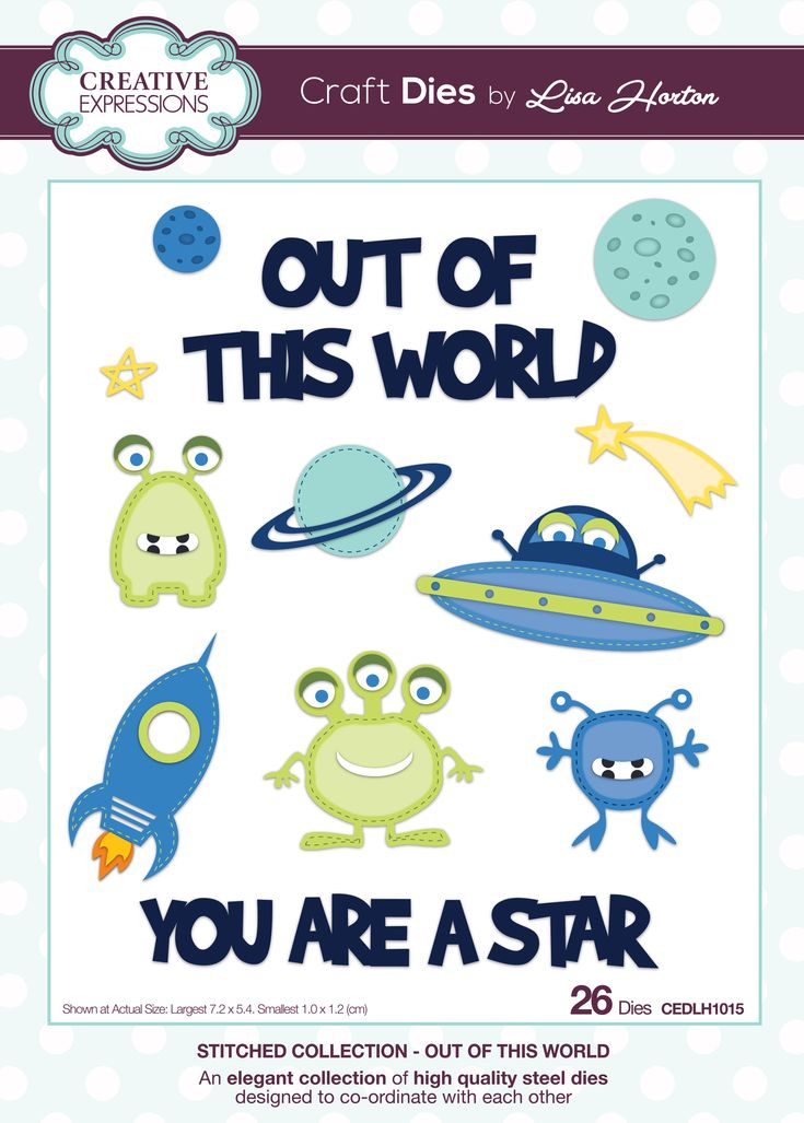 One of a new range of Craft Dies from Creative Expressions,  designed by Lisa Horton. Great for home decor and childrens cards.