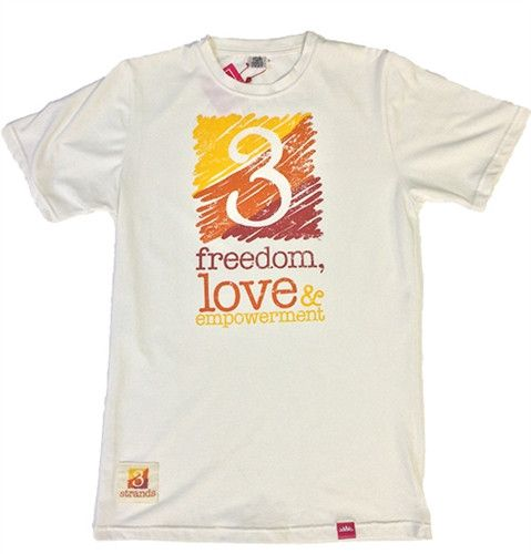 T-shirt 3 Strands Logo - Womens White