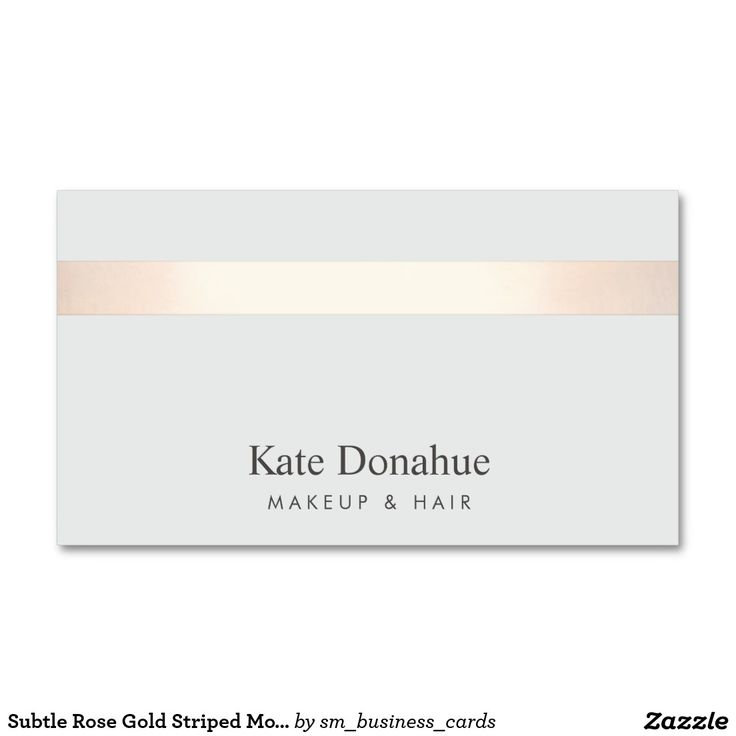 Subtle Rose Gold Striped Modern Stylish Gray 2 Double-Sided Standard Business Cards (Pack Of 100) Lovely design perfect for hairstylists, estheticians, hair salons, fashion boutiques, event planners, fashion stylists, interior designers and more.