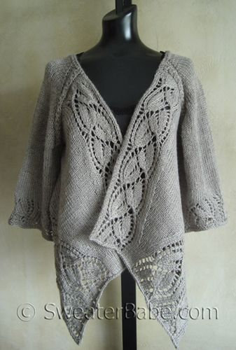 free knitting patterns kimono cardigan   This cardigan features many elegant and feminine details. Its a top ...