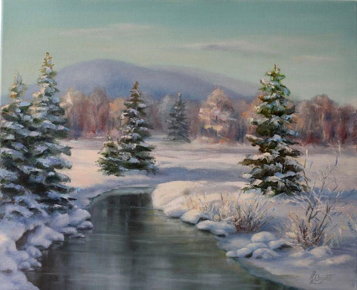 Winter landscape by Lidmar.deviantart.com on @DeviantArt
