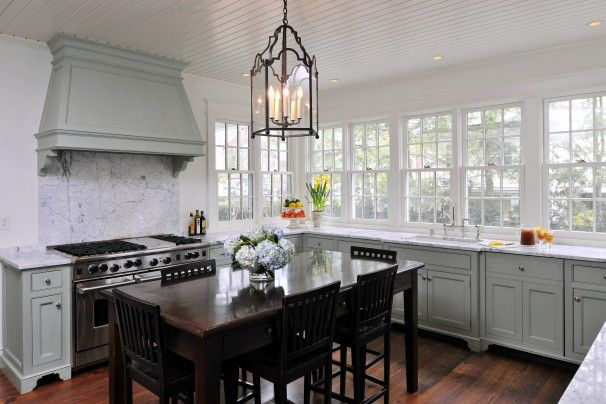 When Designing Their New Kitchen, The Zantzingers Imagined A Free Standing  Wooden Table At