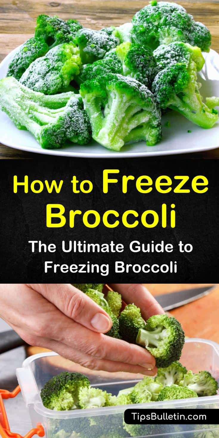 how to store broccoli in freezer