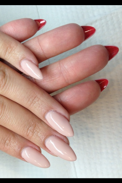 Nails Stiletto Nails Nude on red bottoms Nails