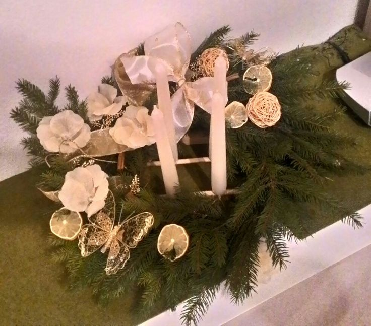 Advent wreath, lemon, adventny veniec