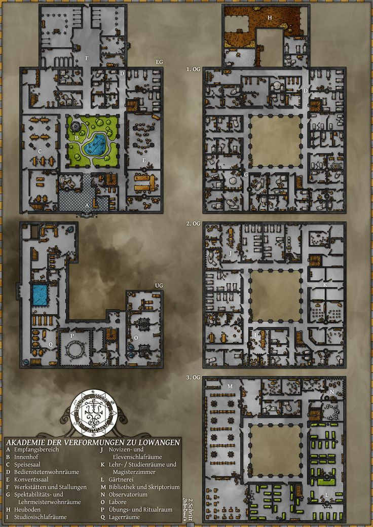 In English this is called Academy of Transmutations, a school for mages in Lowangen in the world of the Dark Eye.by SteffenBrand.deviantart.com on @DeviantArt