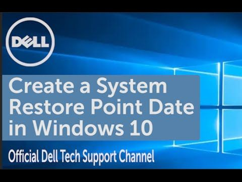 Learn how to do a system restore in Windows 10. First create a system restore point date then perform a system restore. Source: Youtube