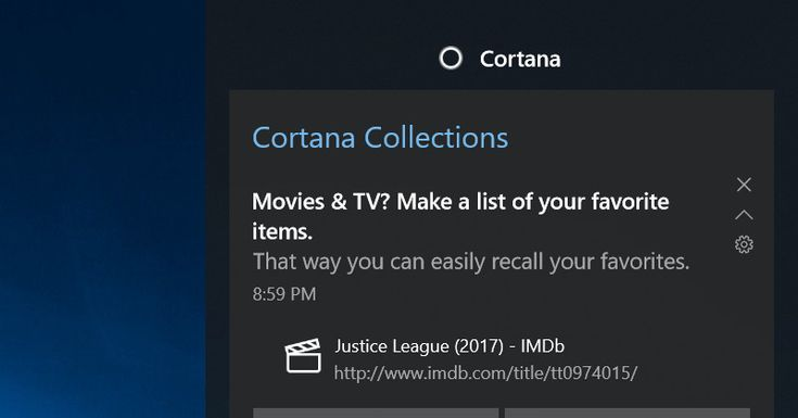 Cortana's new Collections feature will see and remember your browsing habits  ||  Microsoft's Cortana assistant can now remember what books, TV shows, movies, recipes, and restaurants you like and don't want to forget. The company just introduced its new Cortana Collections... https://www.theverge.com/2017/10/13/16473568/microsoft-cortana-collection-windows-10?utm_campaign=crowdfire&utm_content=crowdfire&utm_medium=social&utm_source=pinterest