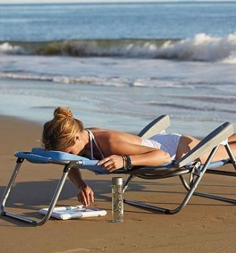 Our exclusive Breezy Beach Sun Lounger keeps you cool and comfortable.: Idea, Breezi Beaches, Beaches Chairs, Patio Furniture, Beaches Sun, Beaches Lounger, Sun Lounger, Beaches Essential, Modern Patio