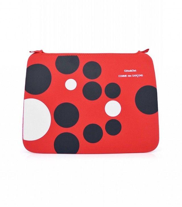 Comme de Garcons x Cote et Ciel spotted laptop case.