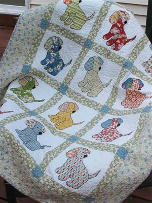 Puppy Love quilt pattern to purchase