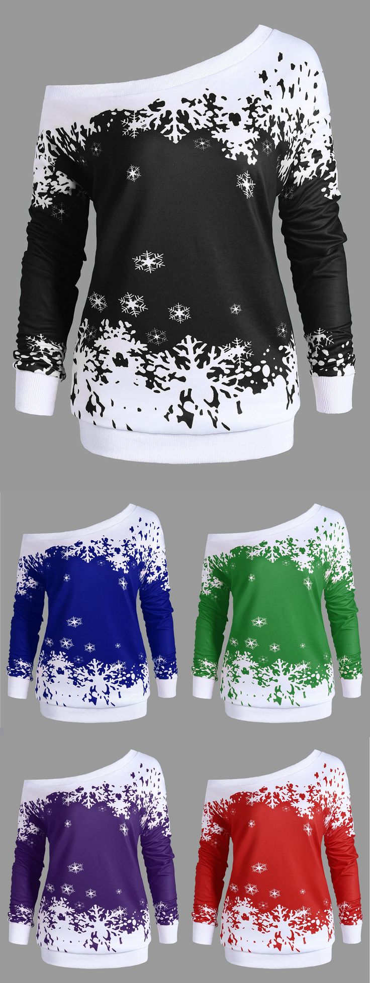 $12.66,Plus Size One Shoulder Christmas Snowflake Sweatshirt - Black 3xl | Rosewholesale,rosewholesale.com,rosewholesale.com clothing,rosewholesale plus size,rosewholesale dress plus size,rosewholesale tops, plus size,tops,snow printed,christmas,sweatshirts,hoodies,black,red,blue,green,purple | #rosewholesale #tops #plussize #sweatshirts