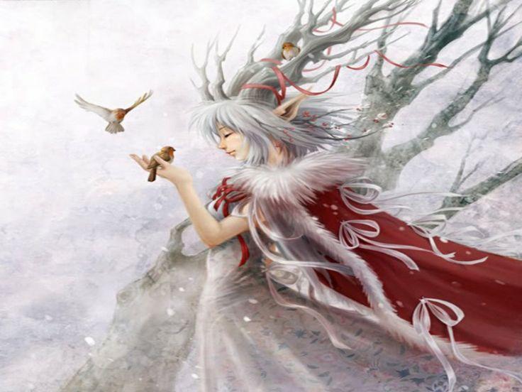 Картинка эльфы зимой