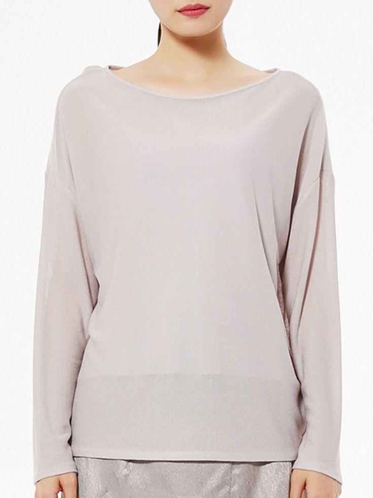 Plain Simple Long Sleeve H-line Blouse