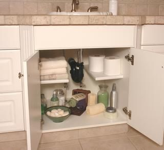 Get under the bathroom sink organized.
