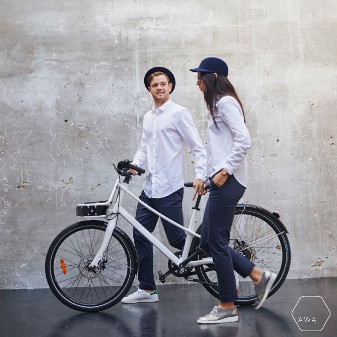 Functional Smart Pants for Cyclists and Commuters by Alice With Alex #functionalfashion #cyclechic #bikecommuters #madeinfrance