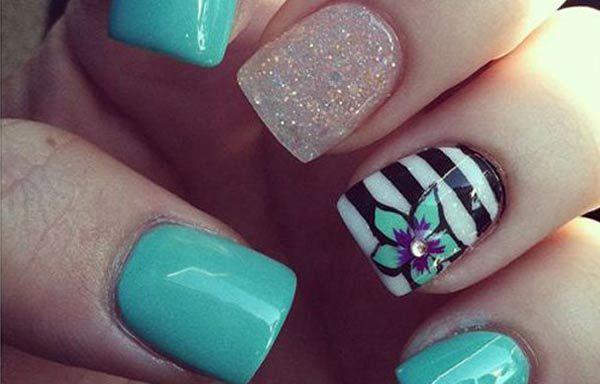 Diseños para manicure, diseño para manicure joven. Clic Follow, Únete al CLUB, síguenos! #uñasdecoradas #unhas #uñasbonitas
