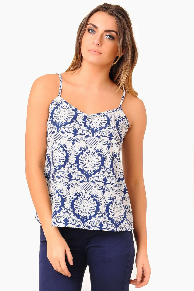 Get on trend by slipping on this printed vest top. This trend stop separate is a must have for your wardrobe this season, team it with high waisted jeans, hot pants, skirts and ankle boots!