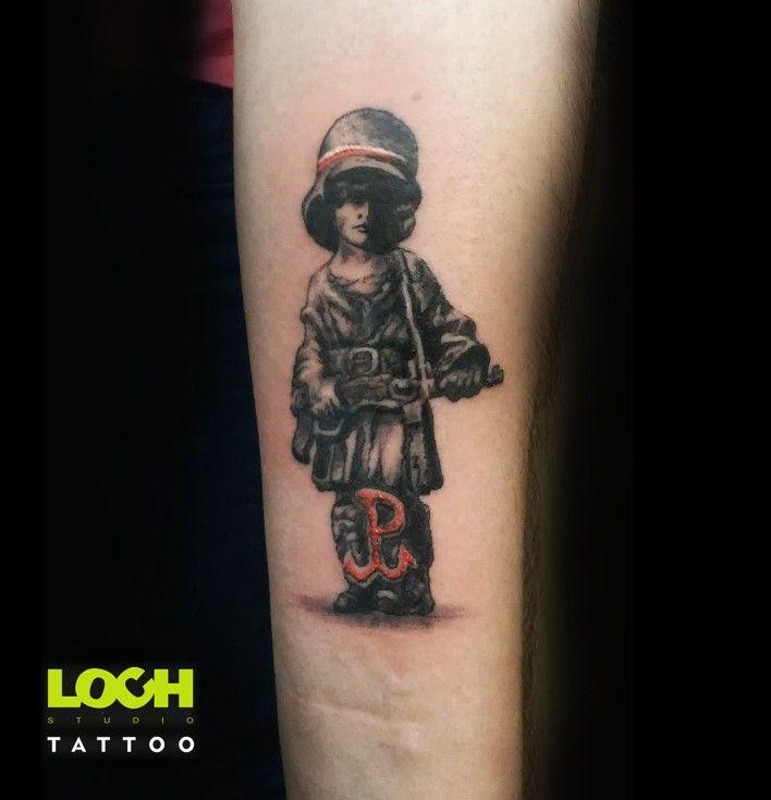 #mały_powstaniec#tatuaż#lochstudio#Studio_tatuażu#patryjotyczne#lochtattoo.com