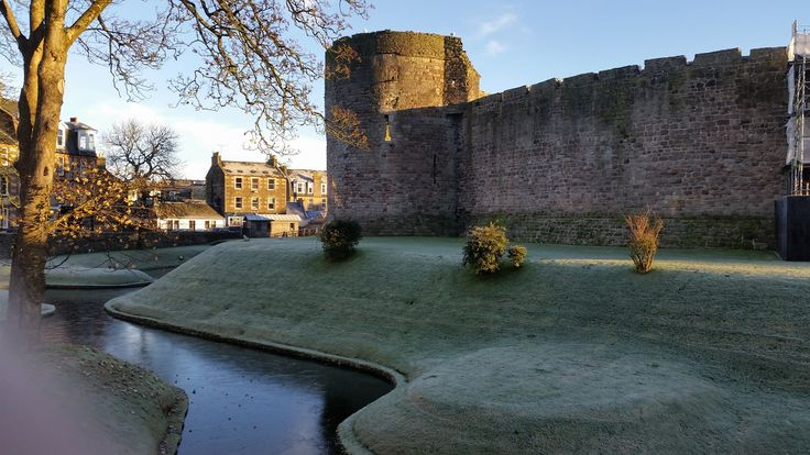 Very cold on Bute today (24th November 2016). Photo of Rothesay Castle by Kirsty Wallace.