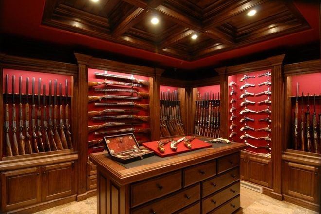 You gotta have a gun room if you gonna hunt or have your own indoor shooting range.